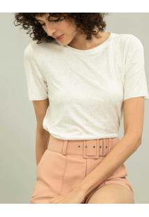 Blusa Ecovero Less Is More Off White / Ouro - Lez A Lez