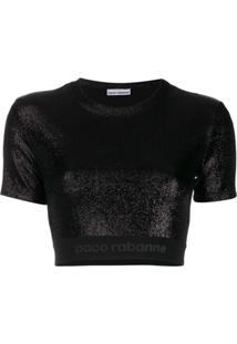 Paco Rabanne Bodyline Crop-Top - Preto