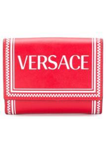 Versace Carteira Com Estampa De Logo - Vermelho