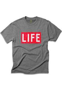 Camiseta Cool Tees Revista Life Magazine - Masculino-Mescla Escuro