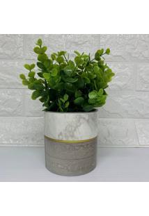 Vaso De Cerâmica Cor Madeira Tamanho Médio
