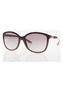 Grazi Gz 4001B - Vermelho Escuro D392 - Tam.57 - Óculos De Sol