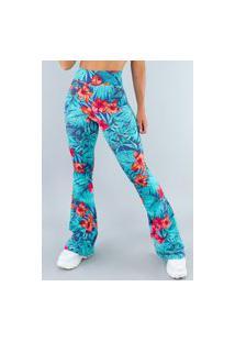 Calça Feminina Mvb Modas Flare Pantalona Suplex Amazônia