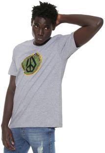 Camiseta Volcom Peace Cinza