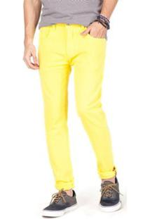 Calça Jeans Reserva - Masculino-Laranja