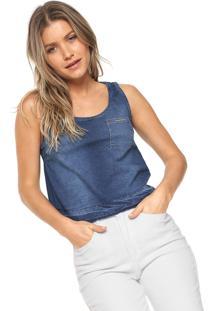 522a5445cb9e3 Dafiti. Regata Jeans Lunender Evasê Azul