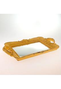 Bandeja Espelhada Retro Amarelo Provenã§Al 20X30Xcm - Amarelo - Dafiti