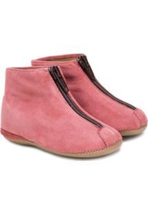 Pépé Kids Zip Front Ankle Boots - Rosa