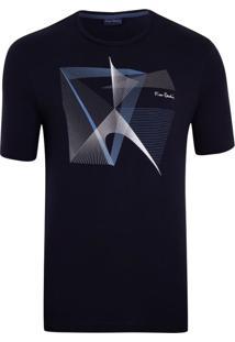 Camiseta Marinho Com Silk