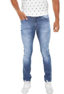 Calça Jeans Enfim Skinny Estonada Azul