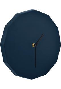 Relógio De Parede Dodeca Azul Marinho