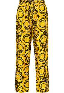 Versace Calça De Pijama Com Estampa Barroca - Preto
