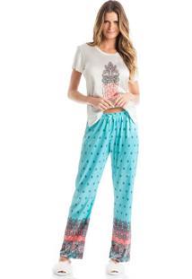 Pijama Acácia Azul/G