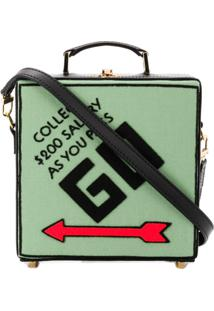 Olympia Le-Tan Bolsa Clutch 'Collect Salary' - Preto