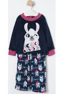 Pijama Lhama- Azul Marinho & Branco- Puketpuket