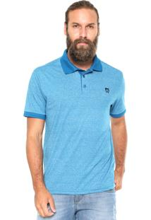 Camisa Polo Mr Kitsch Maga Curta Mouline Azul