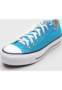 Tênis Flatform Converse Chuck Taylor All Star Lift Seasonal Azul - Kanui