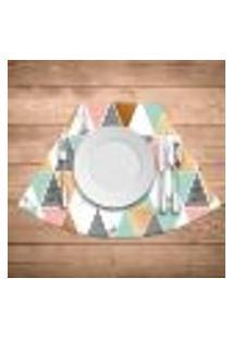 Jogo Americano Para Mesa Redonda Wevans Multi Triângulos Marble Kit Com 4 Pçs
