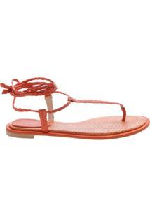 Sandália Rasteira Thin Red Orange | Schutz