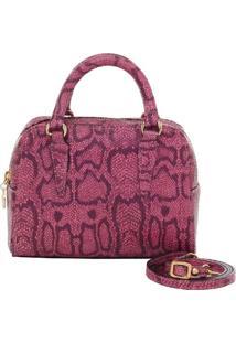 Bolsa Pequena Alça De Mão Couro Naja Pink - 70718