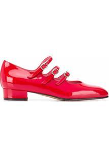 Carel Sapato Flat Ariana Com Salto 25Mm - Vermelho