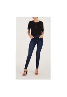 Calça Iodice Skinny Cós Alto Com Pence Jeans