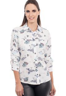 Camisa Love Poetry Floral Branca