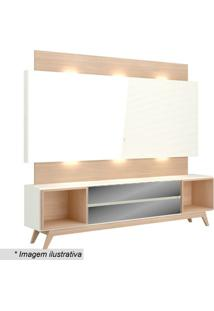 Painel Com Led & Balcão- Off White & Natural- 189X22Dalla Costa