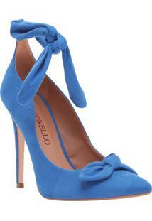 Scarpin Com Laço - Azul - Salto: 11Cmcecconello