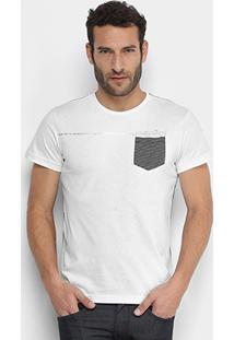 Camiseta Rg 518 Bolso Listrada Masculina - Masculino