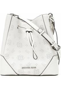 Michael Michael Kors Bolsa Bucket Nicole De Couro - Branco
