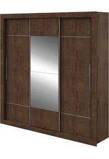 Guarda-Roupa Vicenza Com Espelho - 3 Portas - Imbuia Soft