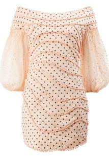 Zimmermann Vestido De Poás Com Aplicações - Rosa
