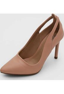 Scarpin Dafiti Shoes Recortes Nude