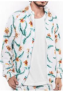 Jaqueta Windbreaker Branca Tropical 103058