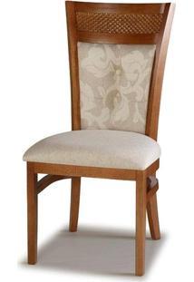 Cadeira Jurere Madeira Capuccino Cor Glace Floral - 28465