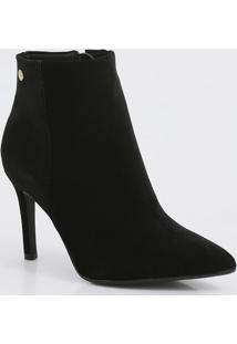 Bota Feminina Nobuck Ankle Boot Salto Alto Fino Vizzano