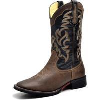 f00fb6ebe607b Bota Couro Country Texana Top Franca Shoes Masculino - Masculino-Marrom
