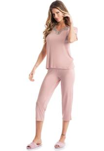 Pijama Platina Capri Rosa/P
