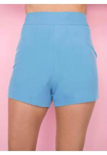 Short Azul Claro Alfaiataria