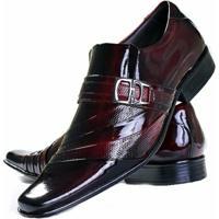 fe8dc4a72b Sapato Social Envernizado Gofer Couro - Masculino-Vermelho