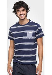 Camiseta Colcci Listrada Bolso - Masculino