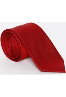 Gravata Em Seda Geométrica - Vermelha - 7X155Cm Dudalina