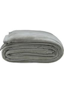 Cobertor De Casal - Cinza Escuro - 180X220Cmsultan