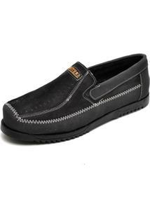 Mocassim Masculina Top Franca Shoes - Masculino-Preto