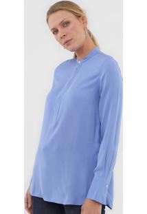 Camisa Seda Polo Ralph Lauren Lisa Azul