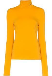 a59979a21f Blusa Amarela Calvin Klein feminina
