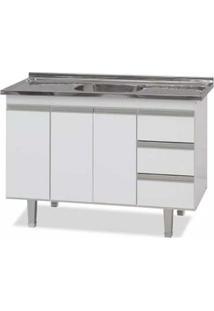 Gabinete De Cozinha 120Cm Siena Branco Bonatto