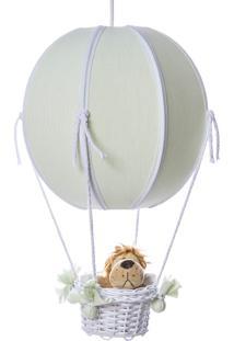 Lustre Balão Bolinha Floresta Quarto Safári Bebê Infantil Potinho De Mel Verde - Kanui