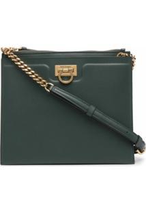 Salvatore Ferragamo Small Trifolio Crossbody Bag - Verde
